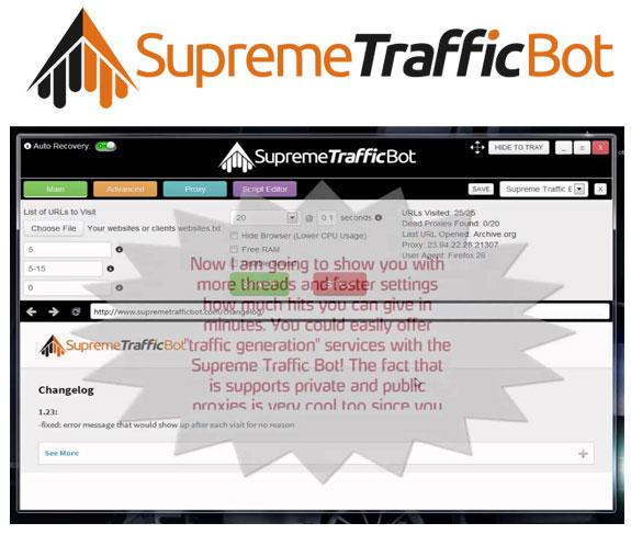 Supreme Traffic Bot FREE DOWNLOAD By Quality Bots