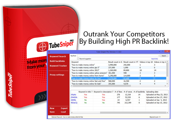 Access To Member Area Tube Sniper Pro 3.0 Unlimited License!