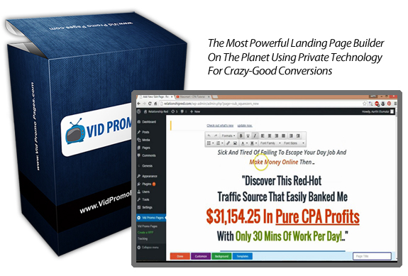 Download FREE Vid Promo Pages Plugin NULLED! Working
