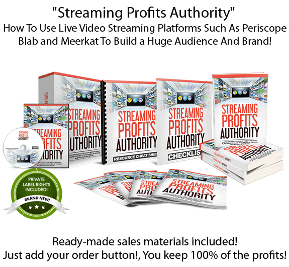 GET Streaming Profits Authority PLR FULL License!