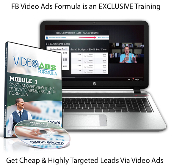 Mario Browns FB Video Ads Formula INSTANT DOWNLOAD!!