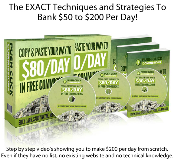 INSTANT Download Push Click Commissions System FULL Training!