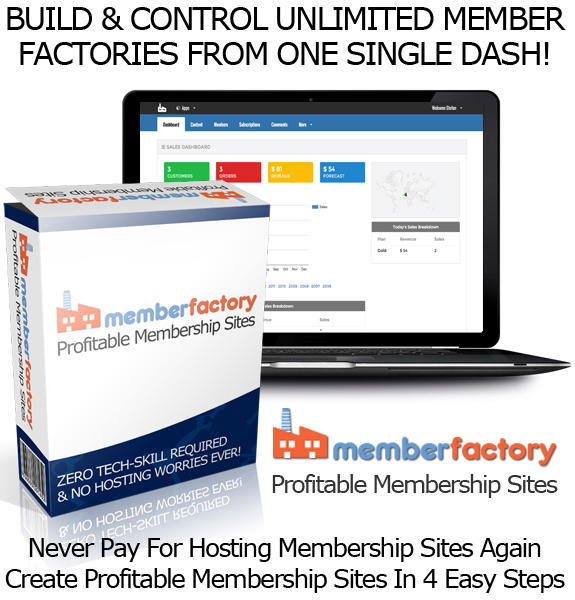Download Member Factory Software UNLIMITED MEMBERSHIP SITES!