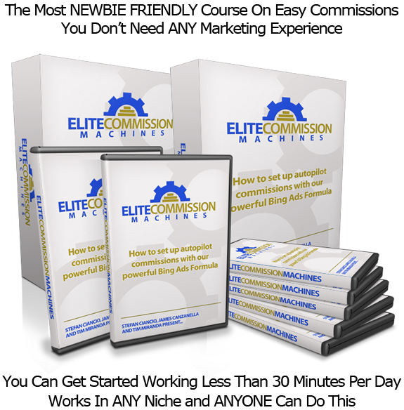 Elite Commission Machines EASY TO USE INSTANT ACCESS!