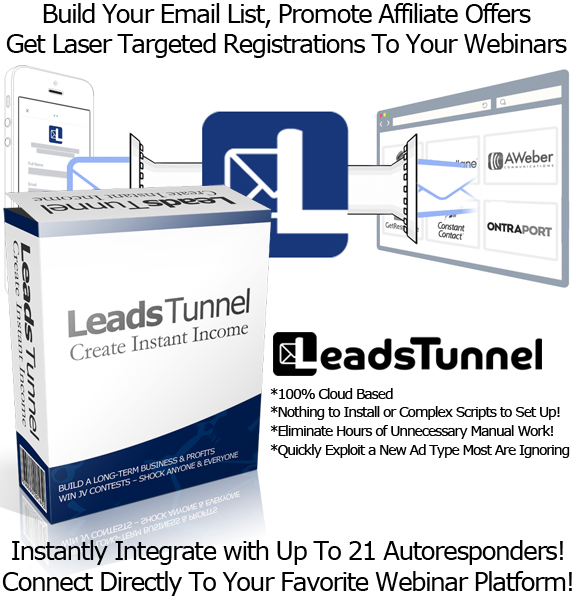 Leads Tunnel Software Get 100% Opt-in Rate NO Website Needed!