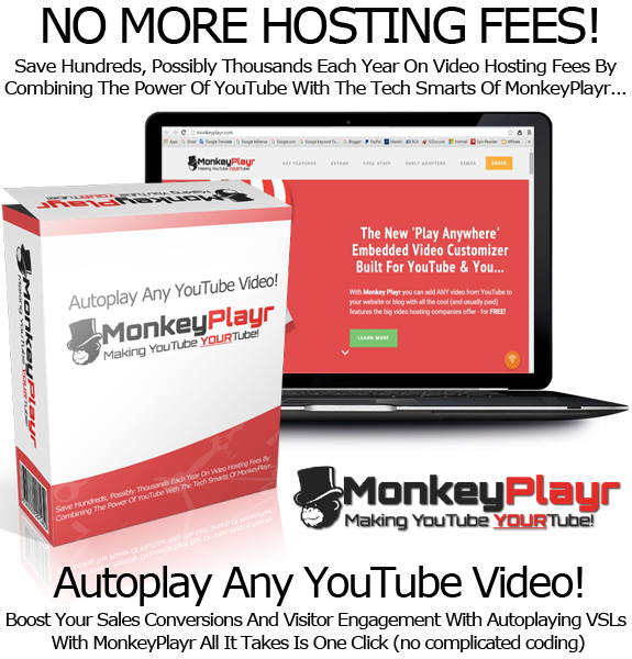 Monkey Playr Easy To Use Video Player INSTANT DOWNLOAD