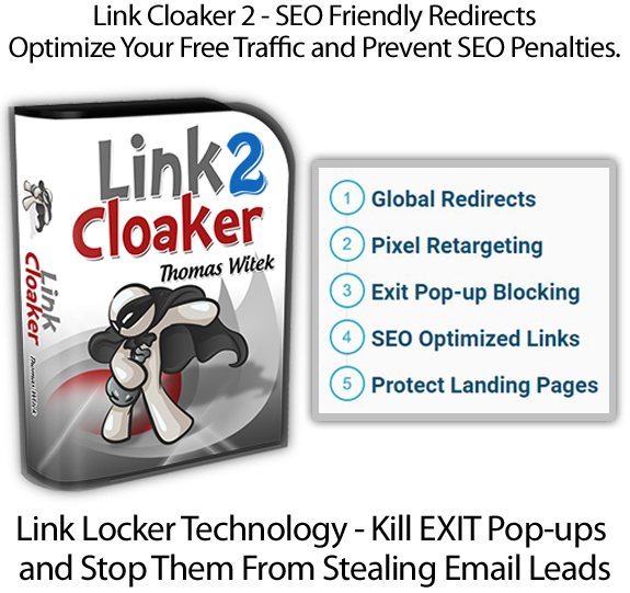 Link Cloaker 2 WP Plugin $5 OFF INSTANT DOWNLOAD By Thomas Witek