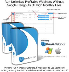 Run A Webinar Software By Sam Bakker LIFETIME ACCESS!!