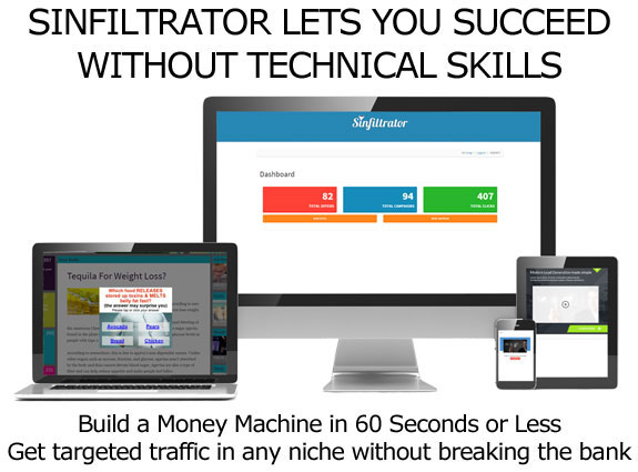 Sinfiltrator Software FULL ACCESS Unlimited License!