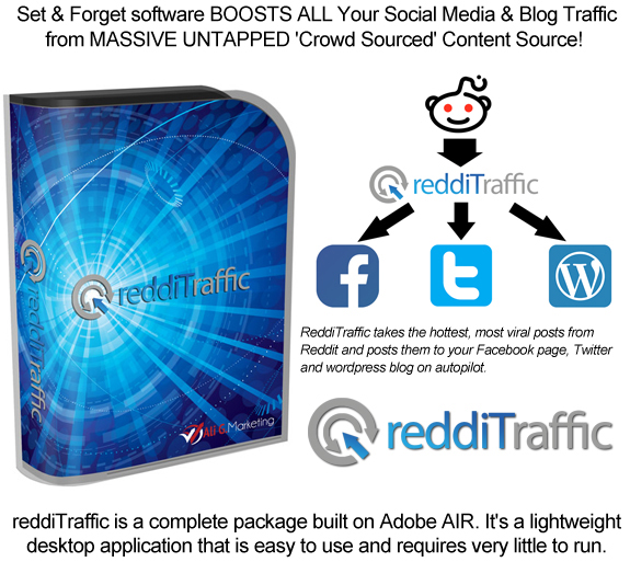 ReddiTraffic Reddit Viral Traffic Software All on Autopilot