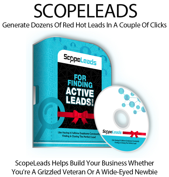 ScopeLeads Software FE Lifetime Access Created By Todd Spears