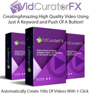 VidCuratorFX Software Unlimited License Instant Download