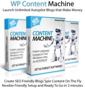 WP Content Machine Software 100% Newbie-Friendly Instant Access