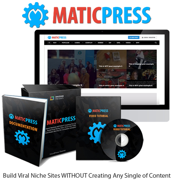 MaticPress Theme Unlimited Sites License Instant Download