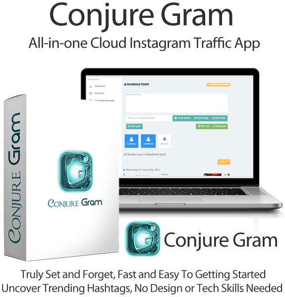 ConjureGram 100% Lifetime Access Instagram Software